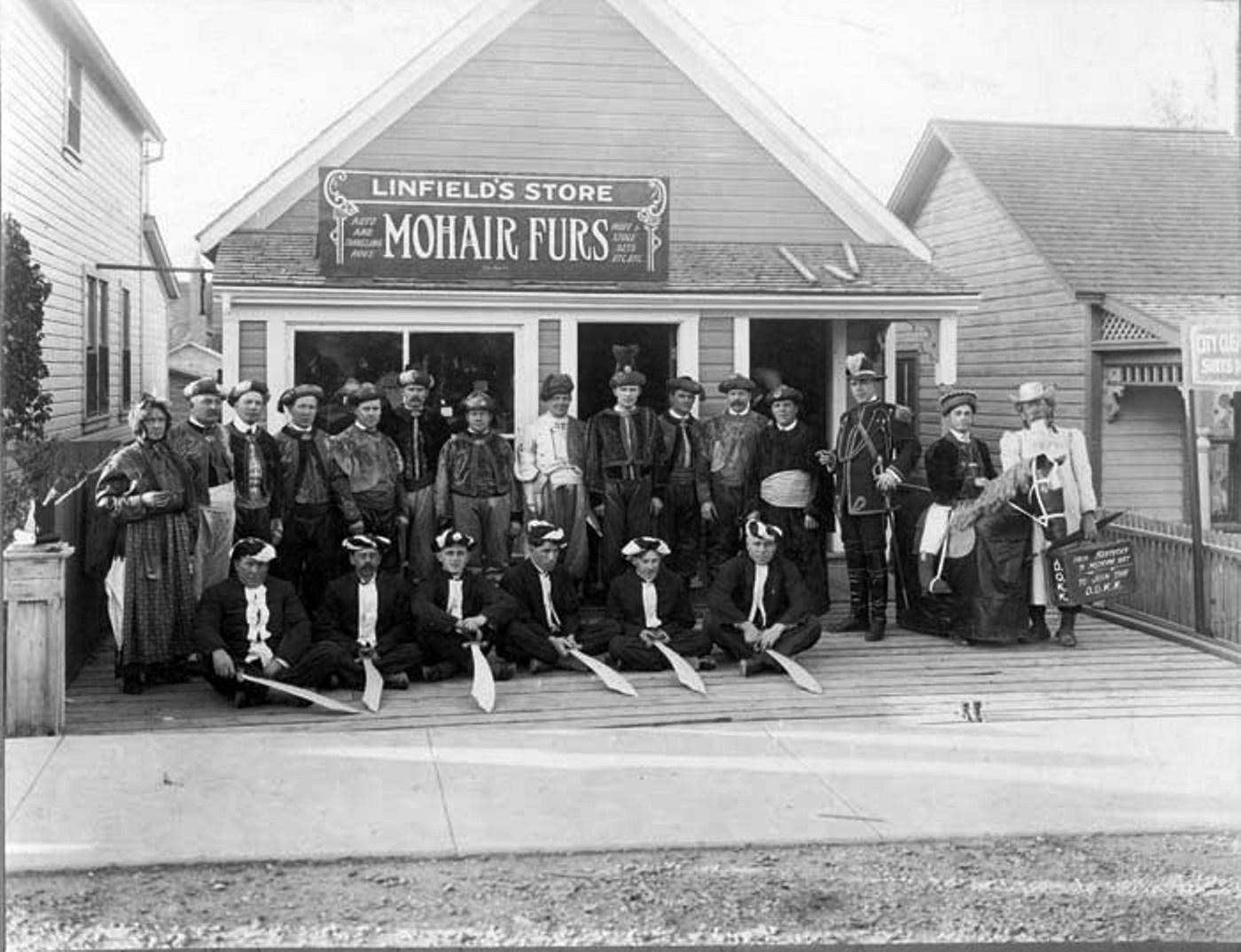 Linfield's Store, Medicine Hat c. 1914, soon after their arrival