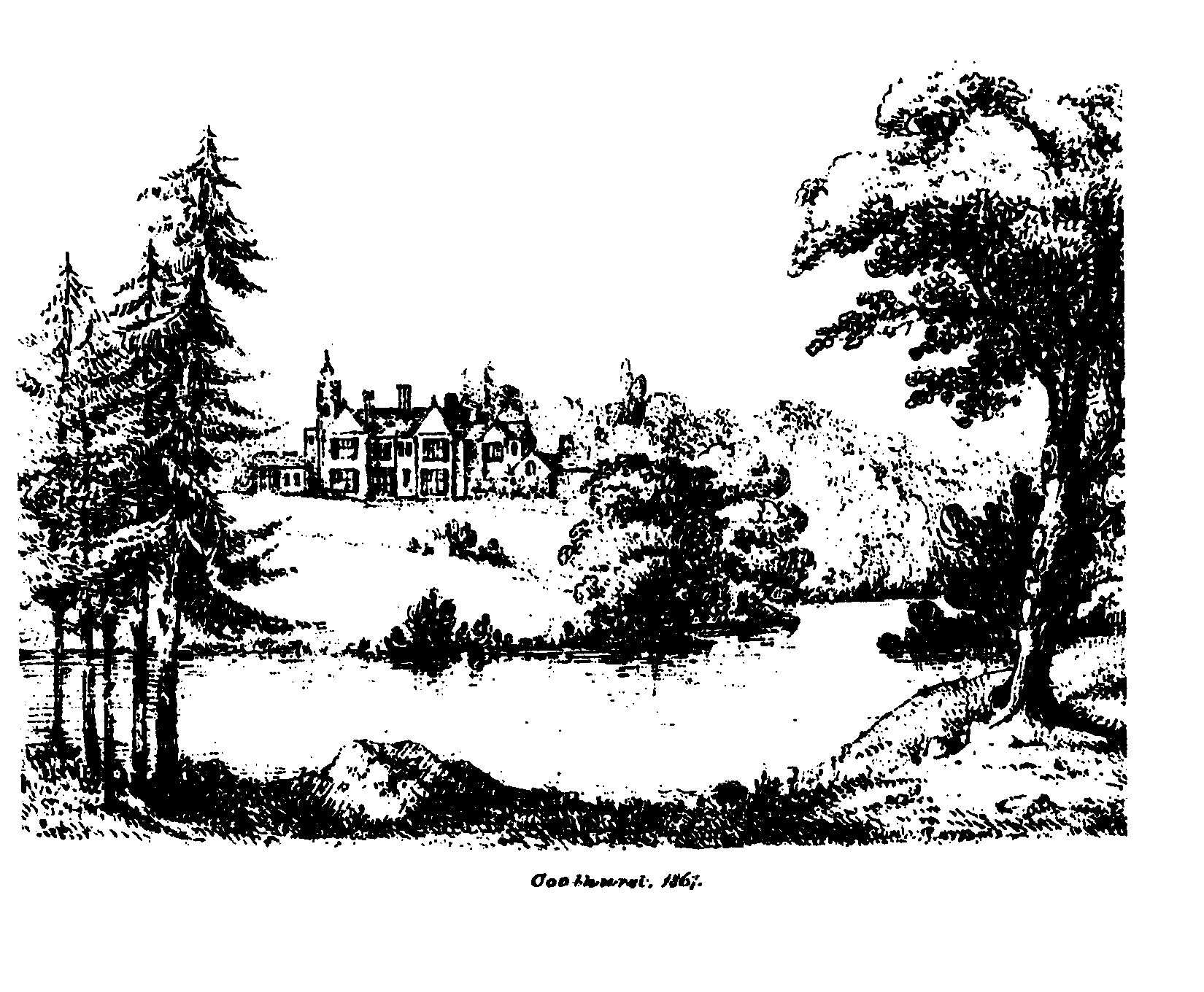 Coolhurst, as it appeared in 1867.
