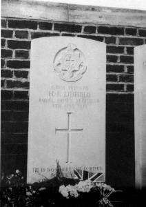 Harold's headstone in the Military Cemetery at  Rue-Pettilon, Fleurbaix