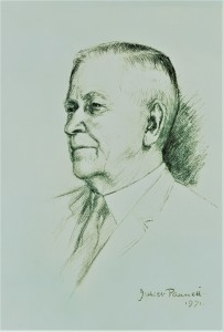 Fig. 11:  A portrait of Arthur in 1971 by well-known Angmering artist Juliet Pannett.