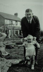 Fig. 7: Arthur with his grandson Chris (Rucklidge) at the new family home at South Hill Farm, Thakeham about 1935