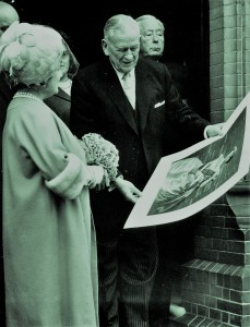 Fig.9: Arthur with the Queen Mother during her visit to Gifford House in 1966