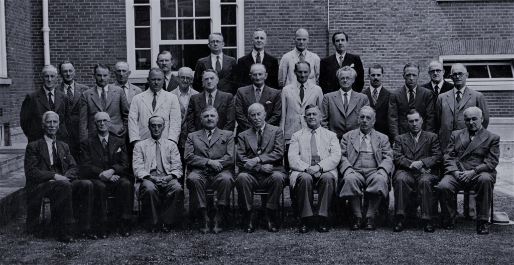 Fig. 8:  The West Sussex War Agricultural Executive Committee, 1949. Arthur is seated at the front, fourth from the right.