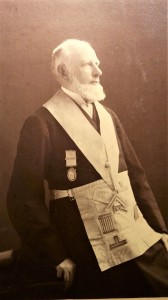 Fig. 3 Mark Linfield wearing his Masonic regalia  c1905