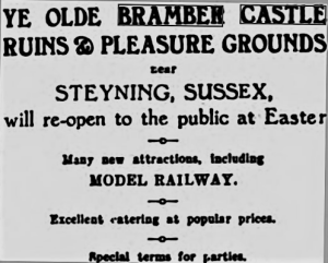 Fig. 6 Advert from the West Sussex Gazette - Thursday 02 April 1936